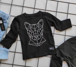 Bluzka geometryczna puma czerń mikoo