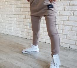 Spodnie baggy kawowe mikoo