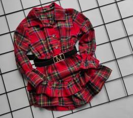 Sukienka marcellove szkocka krata