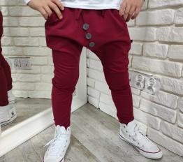 Spodnie Style Kids bordo