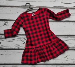 Sukienka świąteczna Krata Style Kids