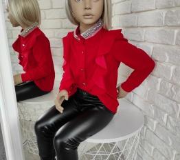 Koszula falbany czerwień