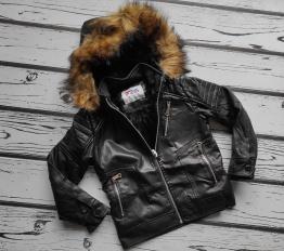 Skórzana kurtka zimowa