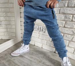 Spodnie Despacito Wilk dekatyzowane niebieskie