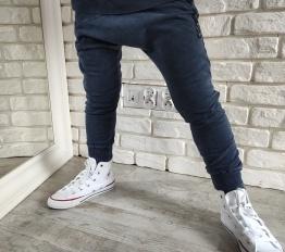 Spodnie Despacito Wilk dekatyzowane granat