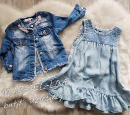 Sukienka letnia  jeansowa z falbanką