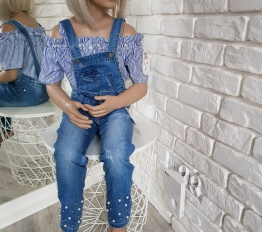 Koszula hiszpanka perełki niebieska