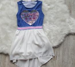 Sukienka LOVE szyfon biały